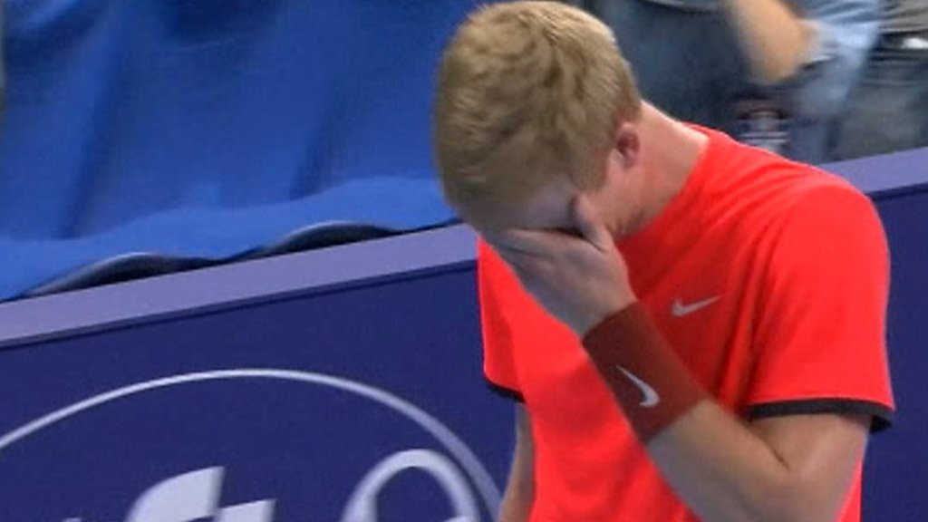 BBC TENNIS: Kyle Edmund in tears after beating Gael Monfils at European Open