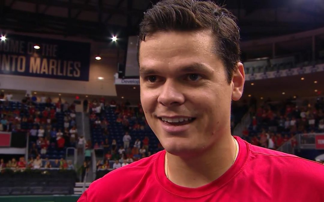 SPORTSNET TENNIS: Raonic loves having Davis Cup tennis in downtown Toronto