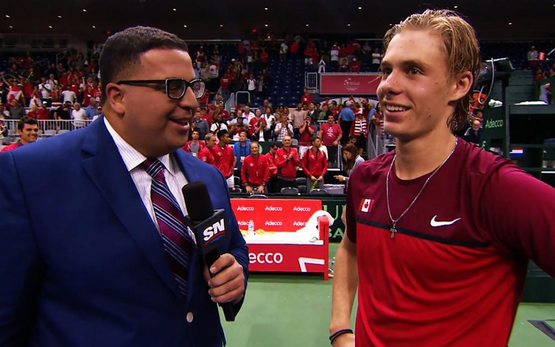 SPORTSNET TENNIS: Shapovalov credits Canadian team for keeping him in match