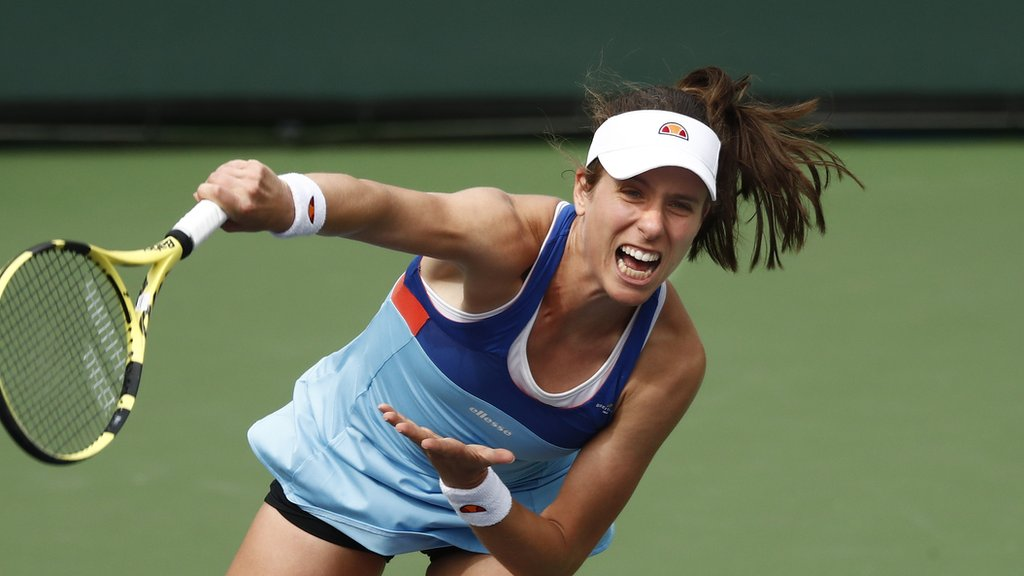 BBC TENNIS: Indian Wells: British number one Johanna Konta beaten by Kiki Bertens at BNP Paribas Open