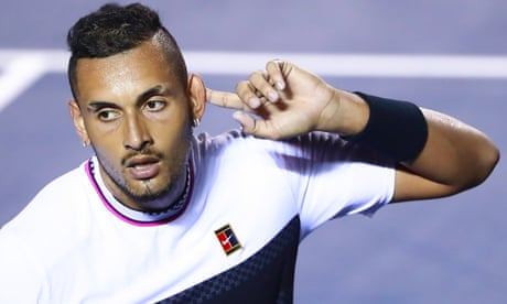GUARDIAN TENNIS: Nick Kyrgios fights back from brink of defeat to stun Rafael Nadal in Mexico