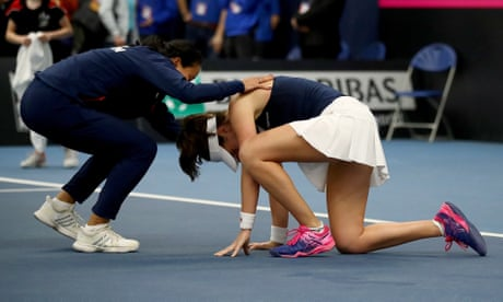 GUARDIAN TENNIS: Johanna Konta's gutsy win puts Britain into Fed Cup World Group play-off