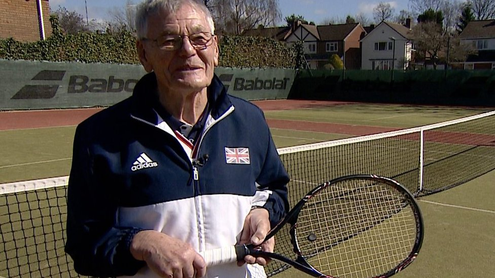 BBC TENNIS: Meet the 87-year-old tennis world number one