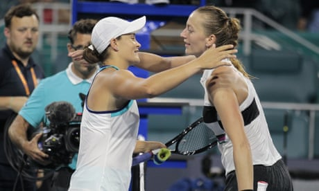 GUARDIAN TENNIS: Ashleigh Barty beats Petra Kvitová in Miami Open quarter-final – as it happened