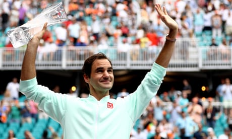GUARDIAN TENNIS: Roger Federer beats John Isner: Miami Open men's singles final – as it happened