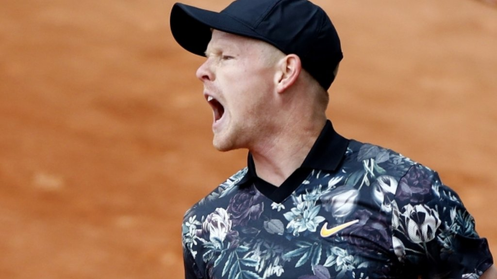 BBC TENNIS: French Open 2019: Kyle Edmund into second round but Cameron Norrie & Dan Evans out