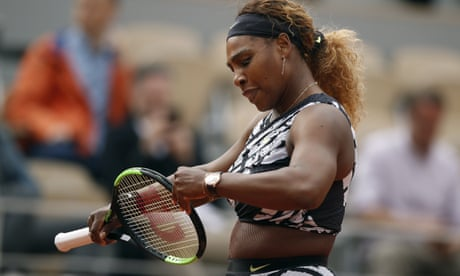 GUARDIAN TENNIS: Serena Williams survives first-round scare to progress in French Open