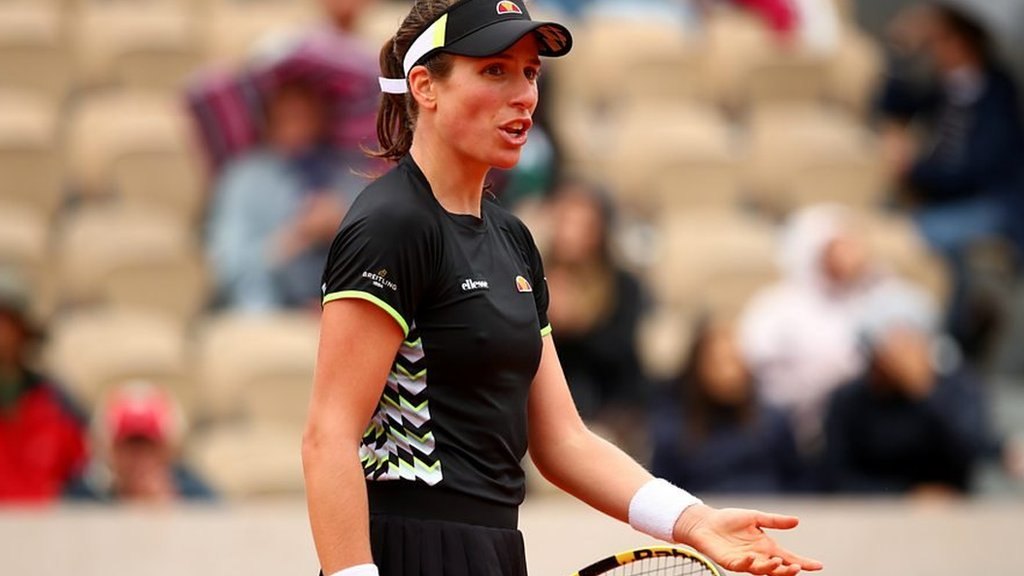 BBC TENNIS: French Open: Johanna Konta says 'scheduling matches is not my job'